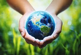 手の上に地球